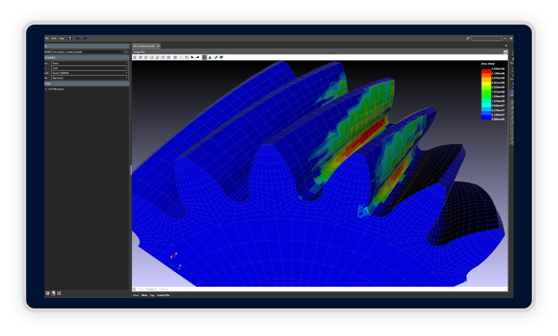 CAEfatigue software modelling
