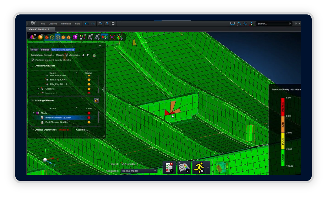 MSC Apex Structures mesh