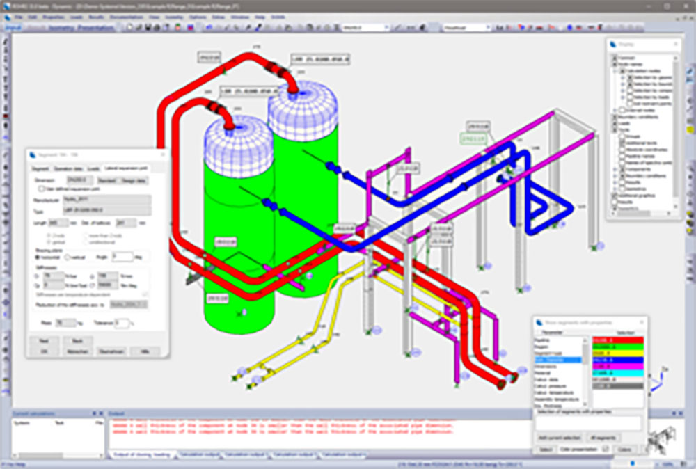 ROHR2 pipe stress analysis